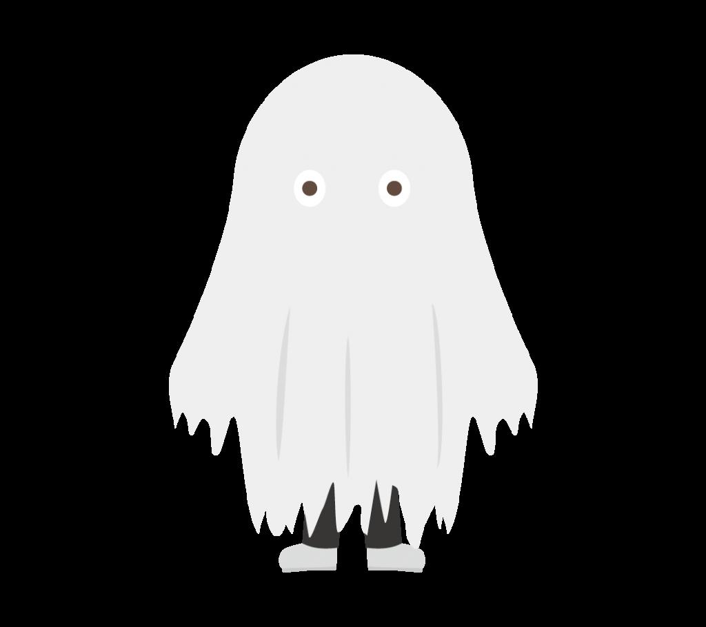 おばけの仮装をした子供のイラスト