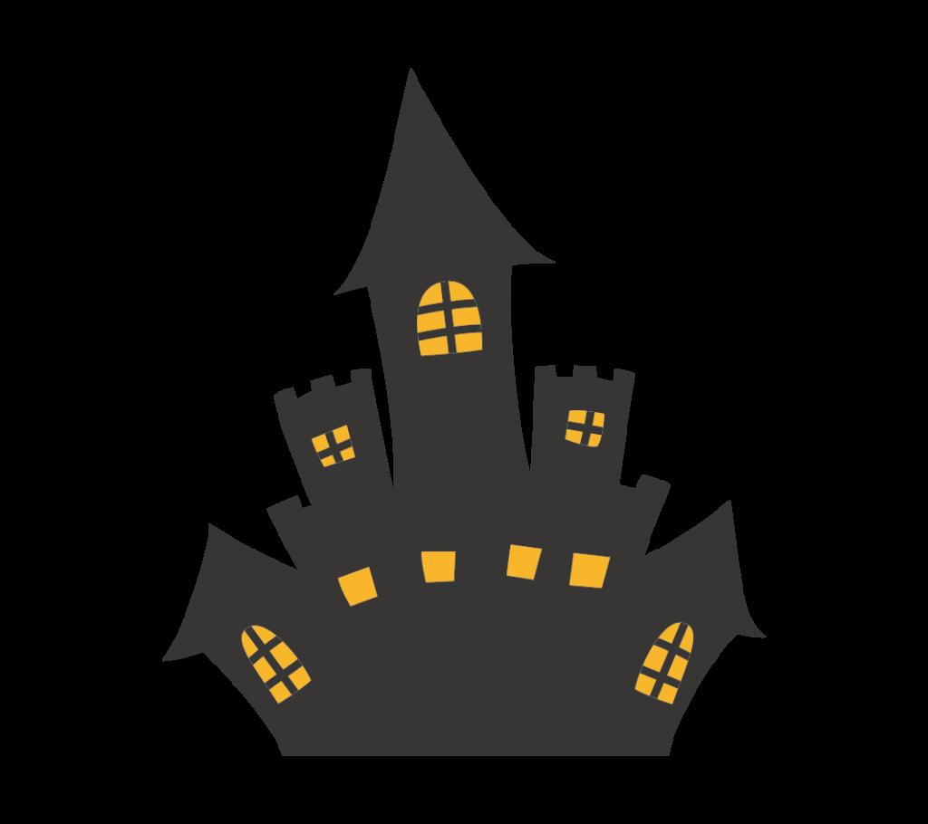 お城(シルエット)のイラスト