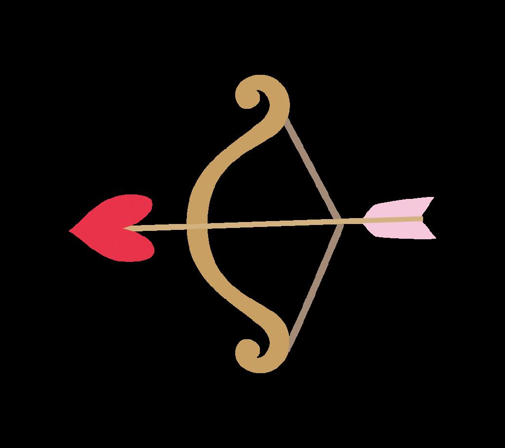 ハートの弓矢のイラスト