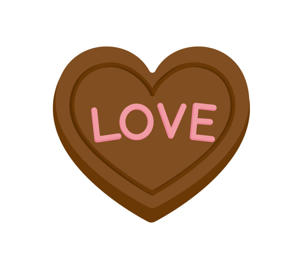 ハート型のチョコレートのイラスト