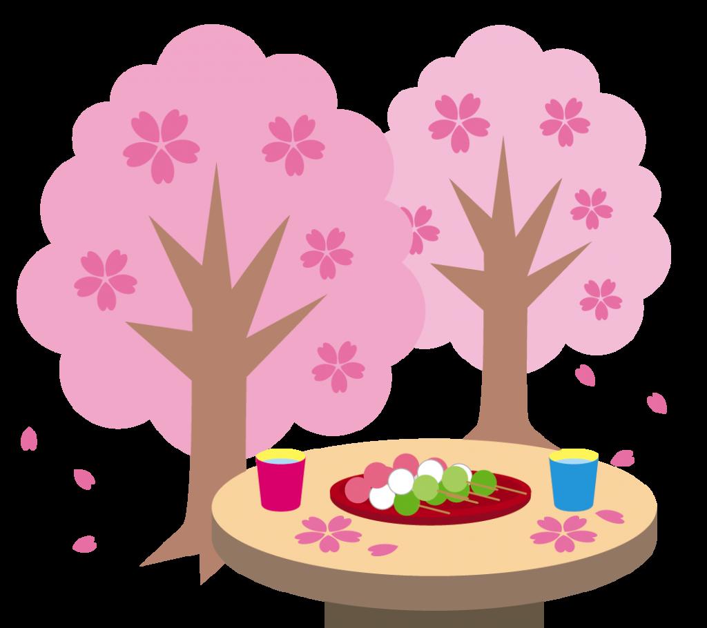 桜とお団子のイラスト