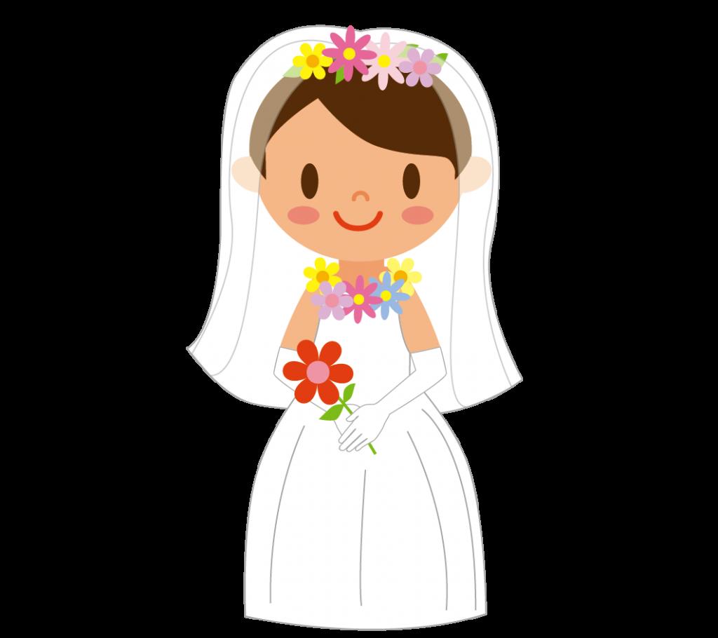 花嫁(全身)のイラスト