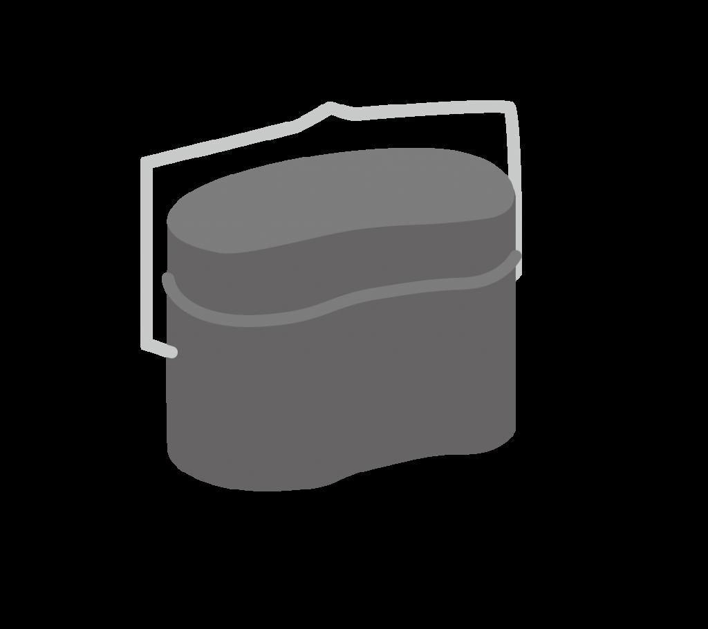 飯盒(はんごう)のイラスト