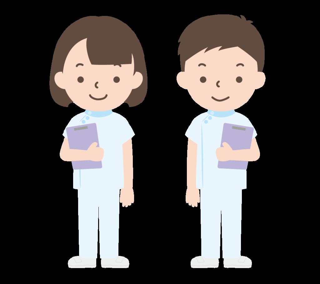 男性と女性の看護師のイラスト