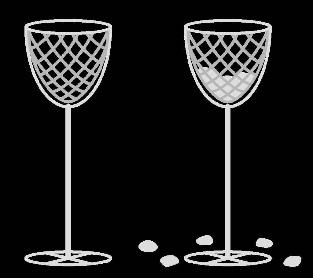 玉入れ(白)のイラスト