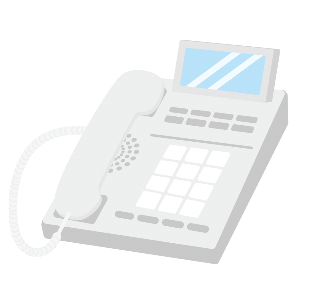 オフィス用電話のイラスト