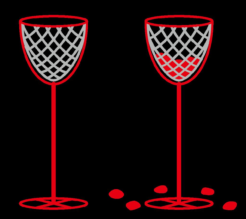 玉入れ(赤)のイラスト