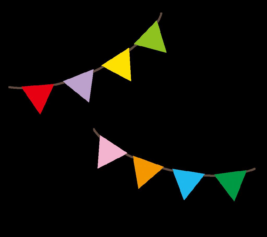 三角の旗のイラスト