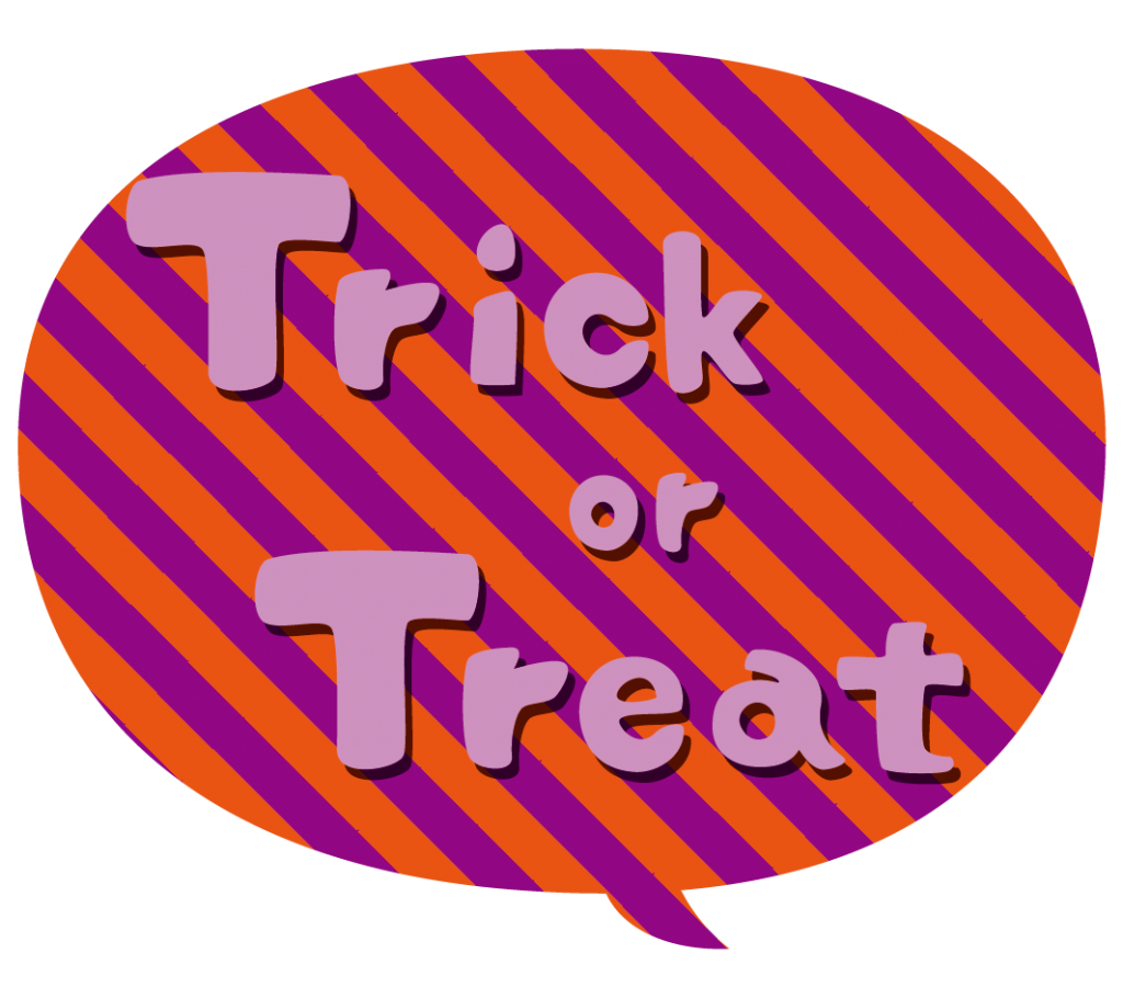 Trick or Treat(文字)のイラスト
