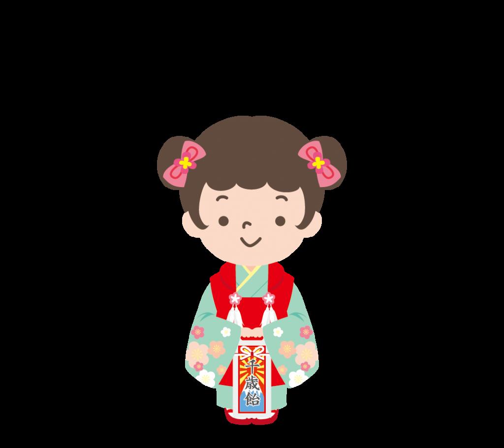 七五三(3歳)のイラスト