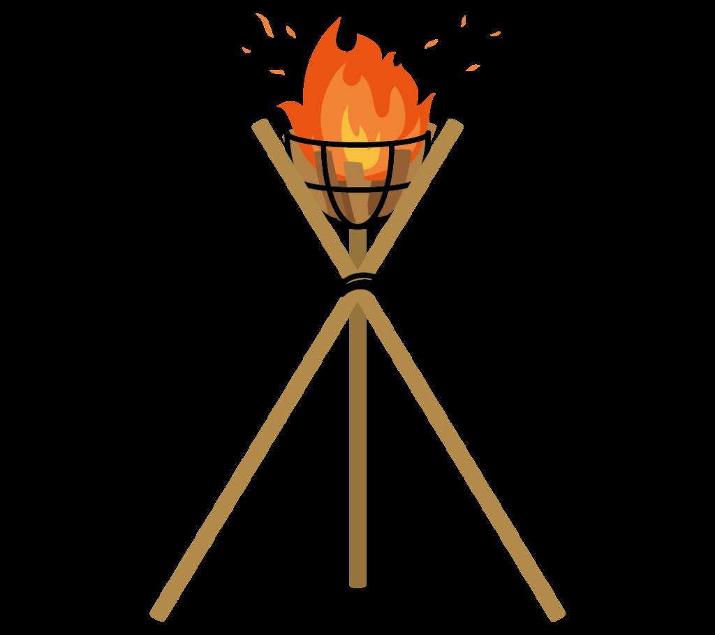 かがり火・松明のイラスト