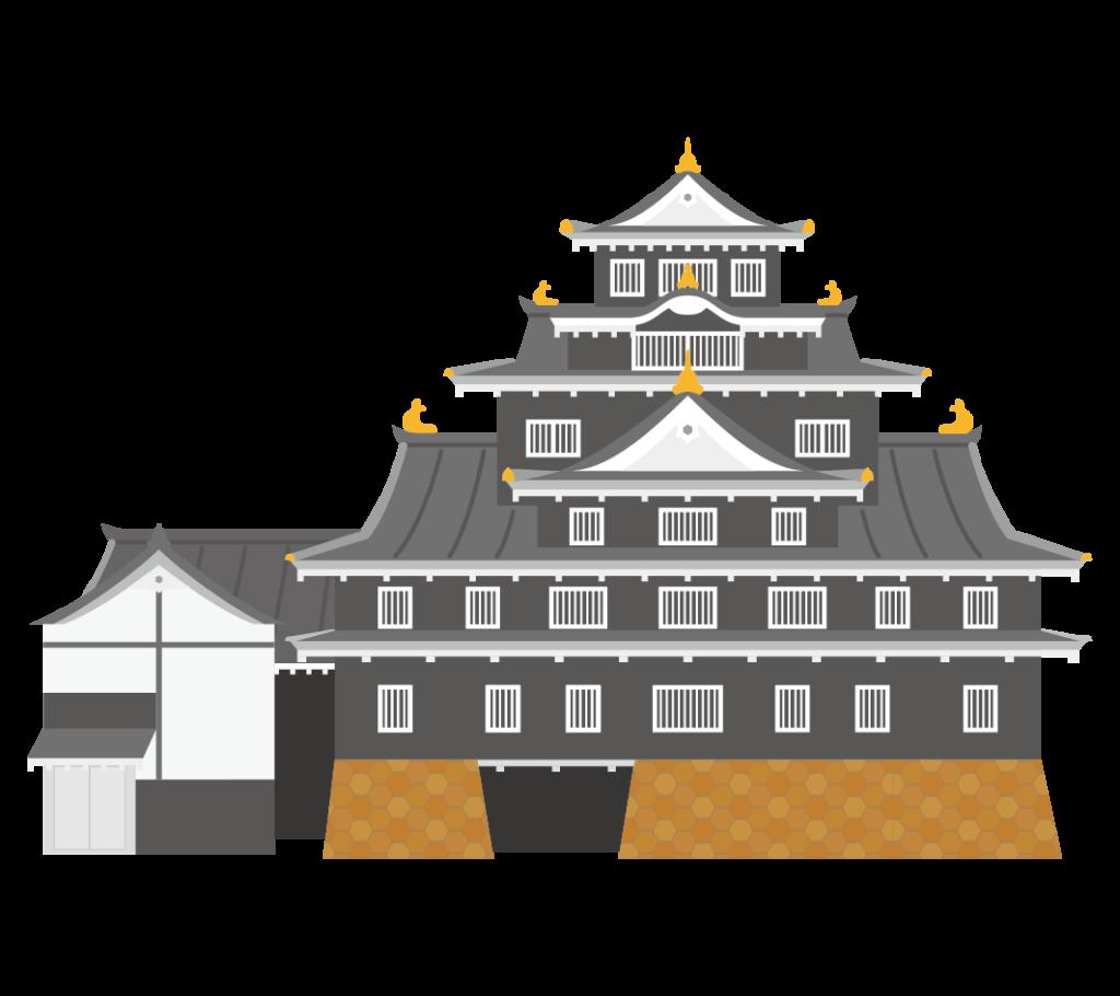 岡山城のイラスト
