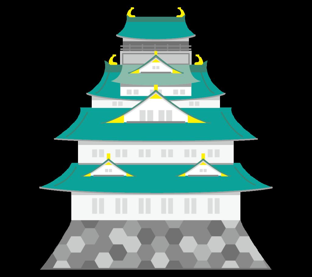 大阪城のイラスト