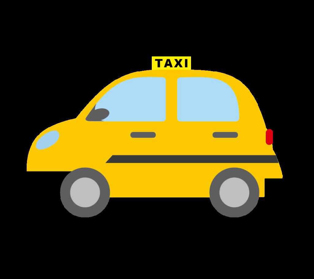 タクシーのイラスト