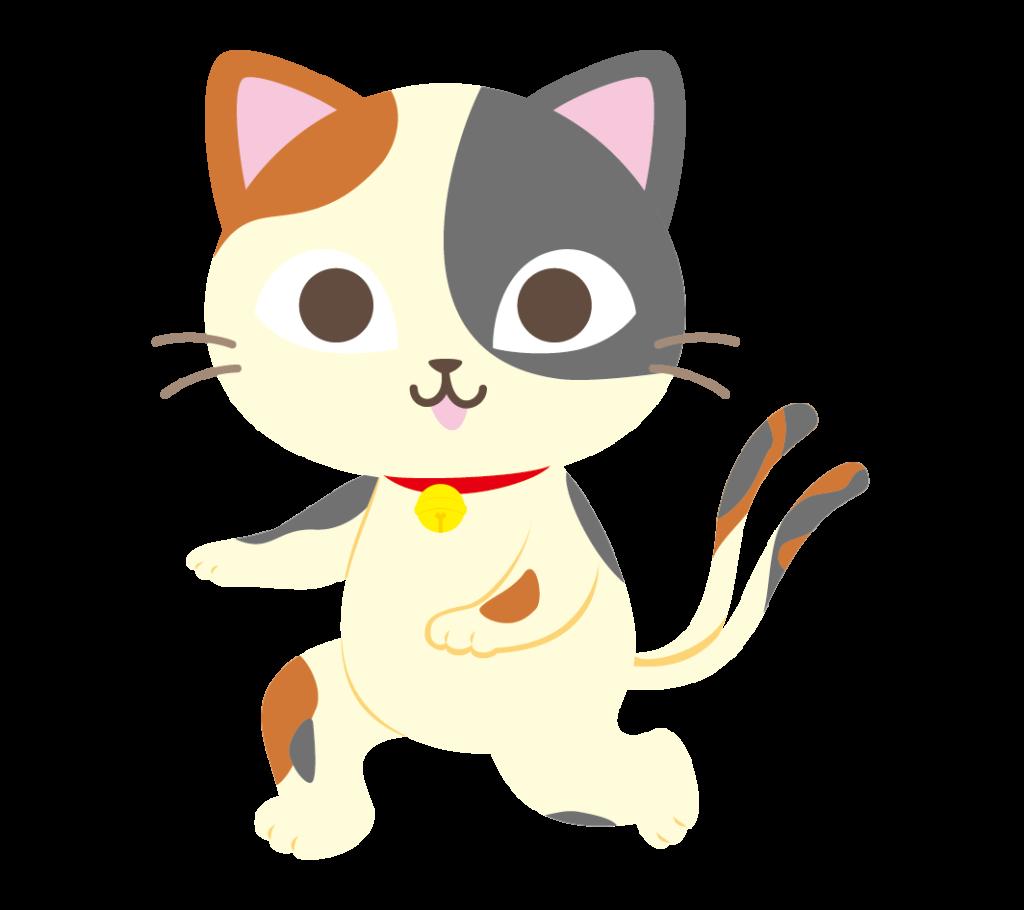 猫又(三毛)のイラスト