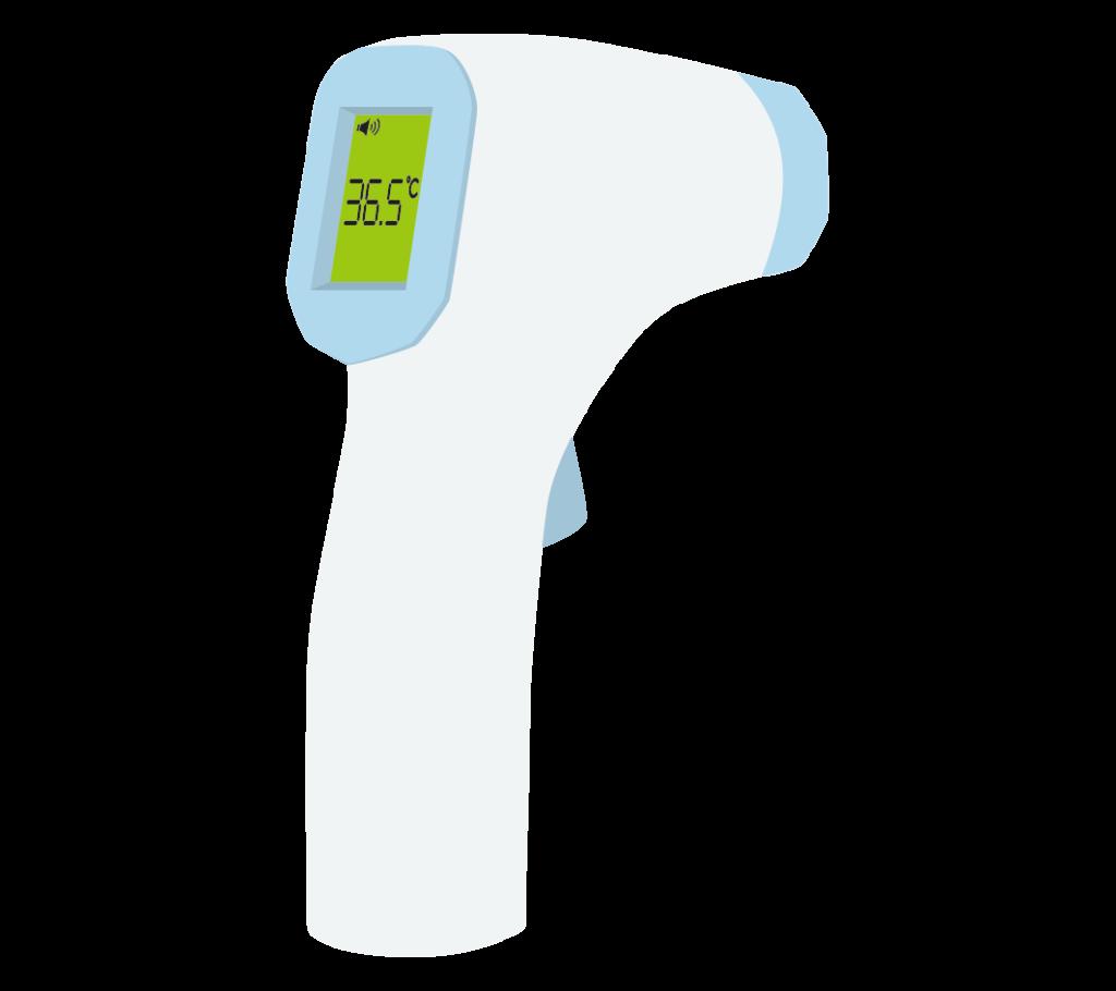 赤外線体温計(平熱)のイラスト
