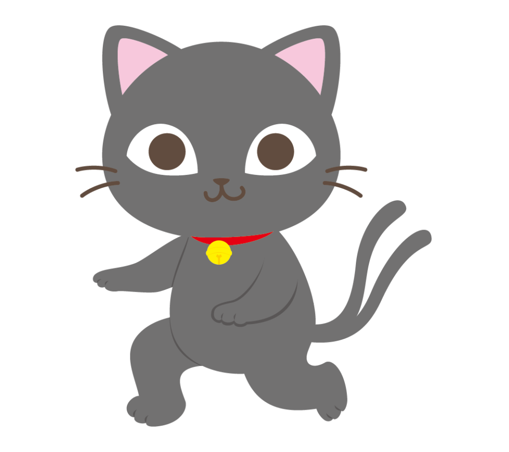 猫又(黒)のイラスト