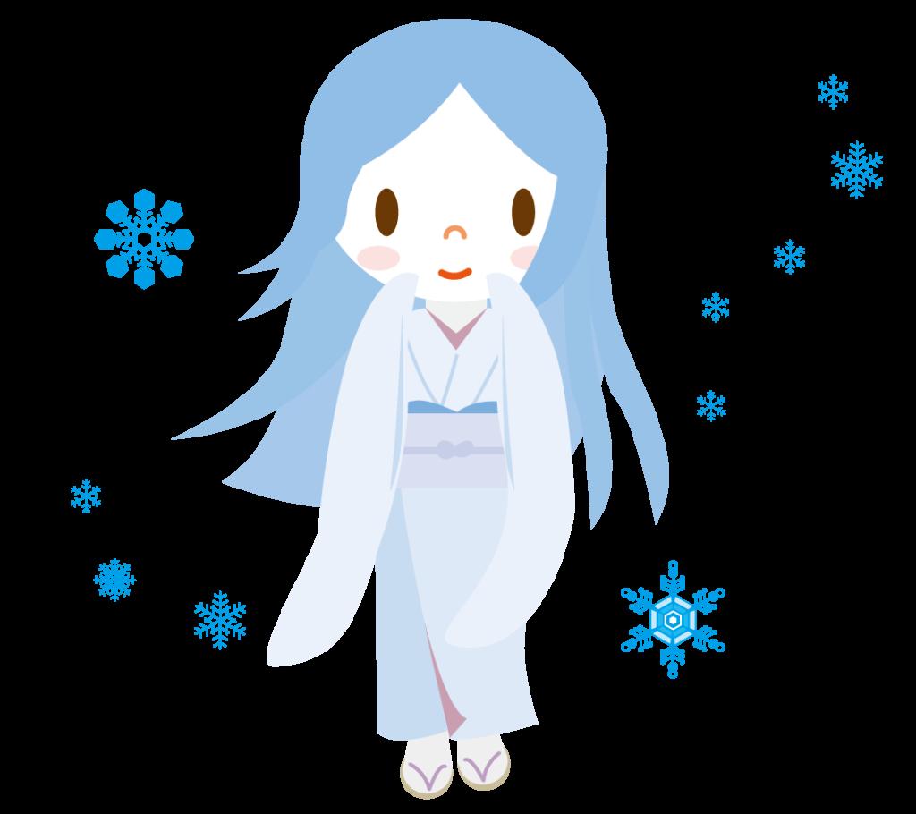 雪女のイラスト