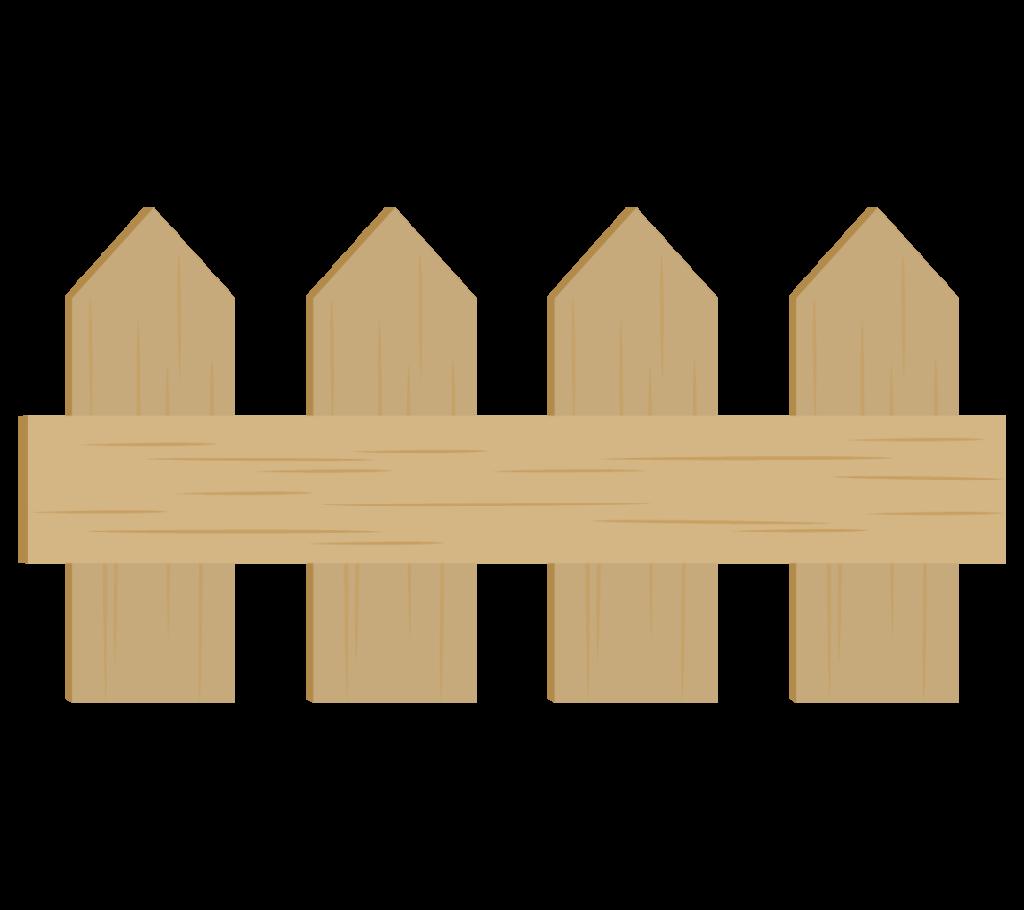 木の柵のイラスト