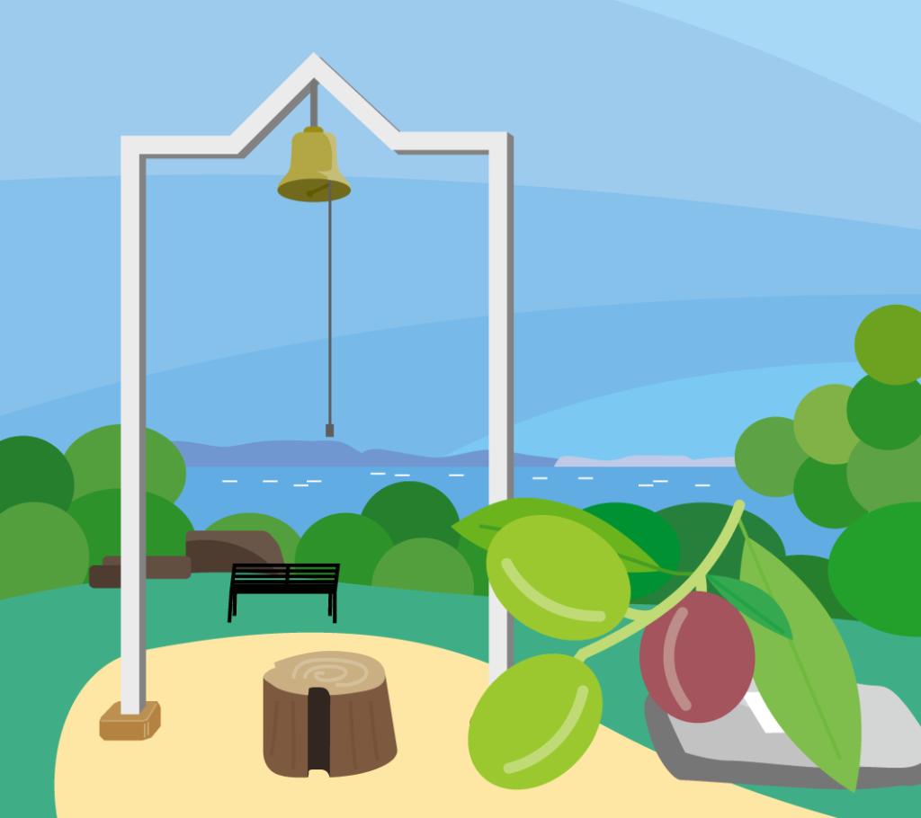牛窓オリーブ園のイラスト