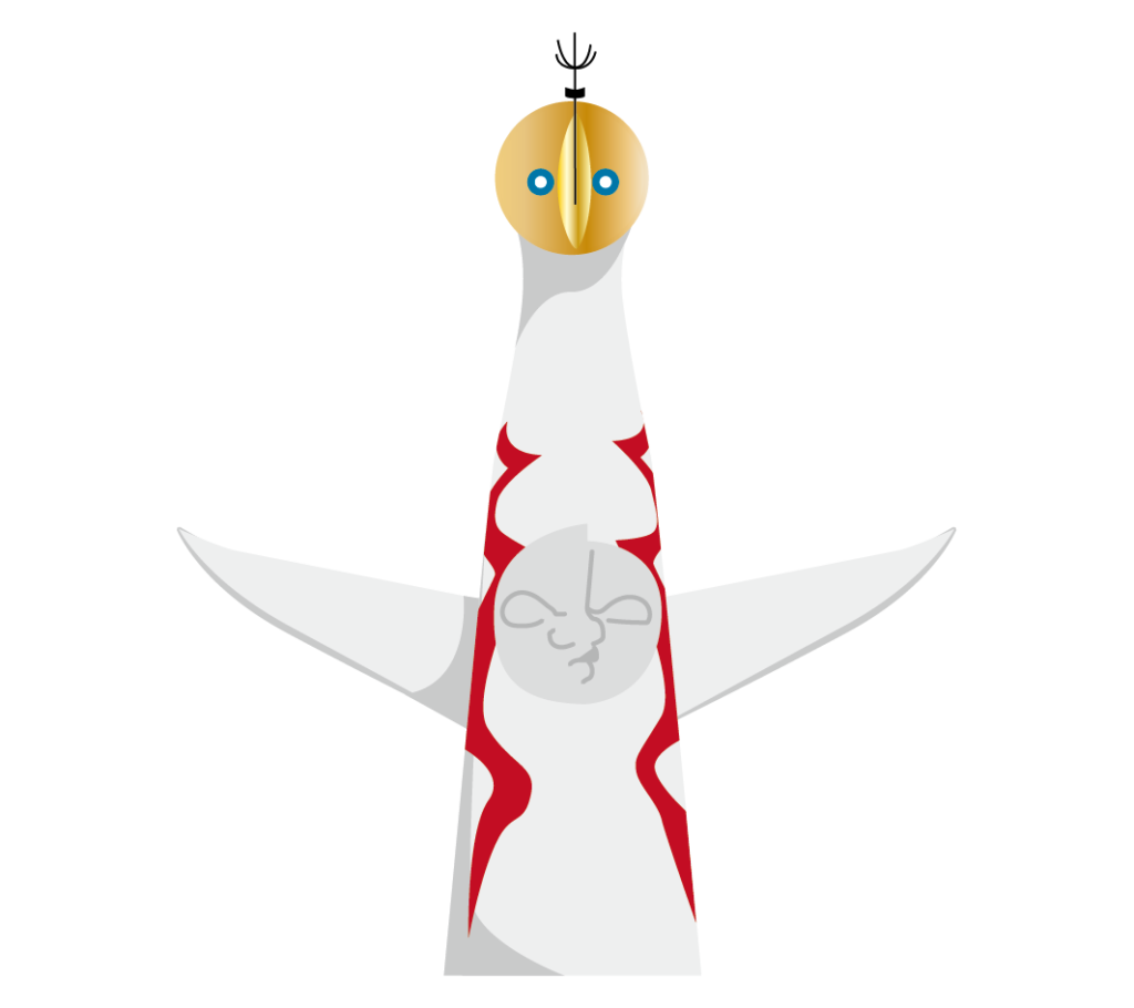 太陽の塔のイラスト