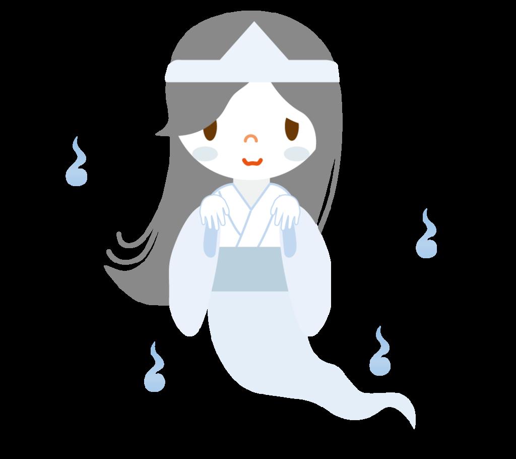女性の幽霊のイラスト