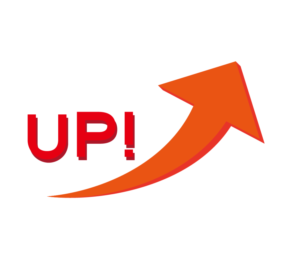 矢印(UP)のイラスト