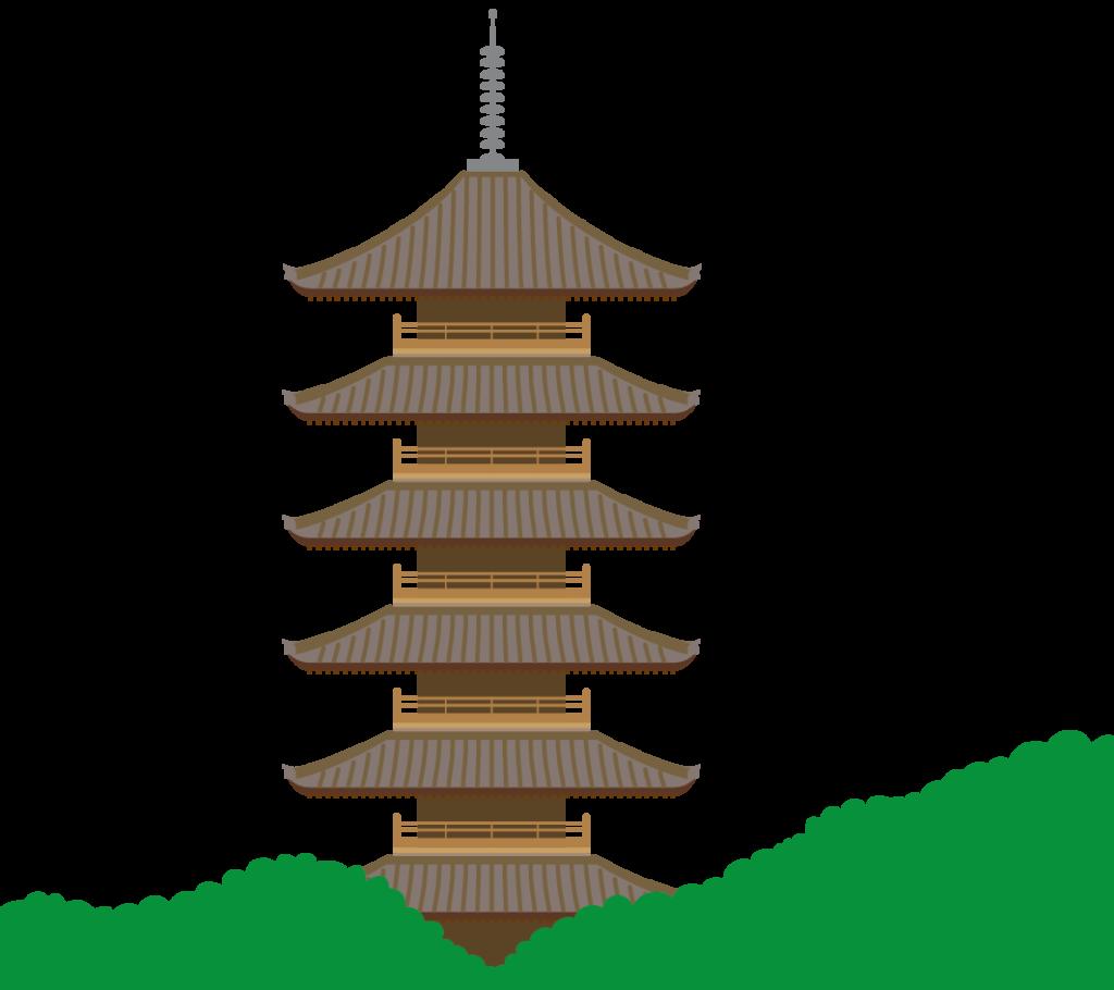 備中国分寺五重塔のイラスト