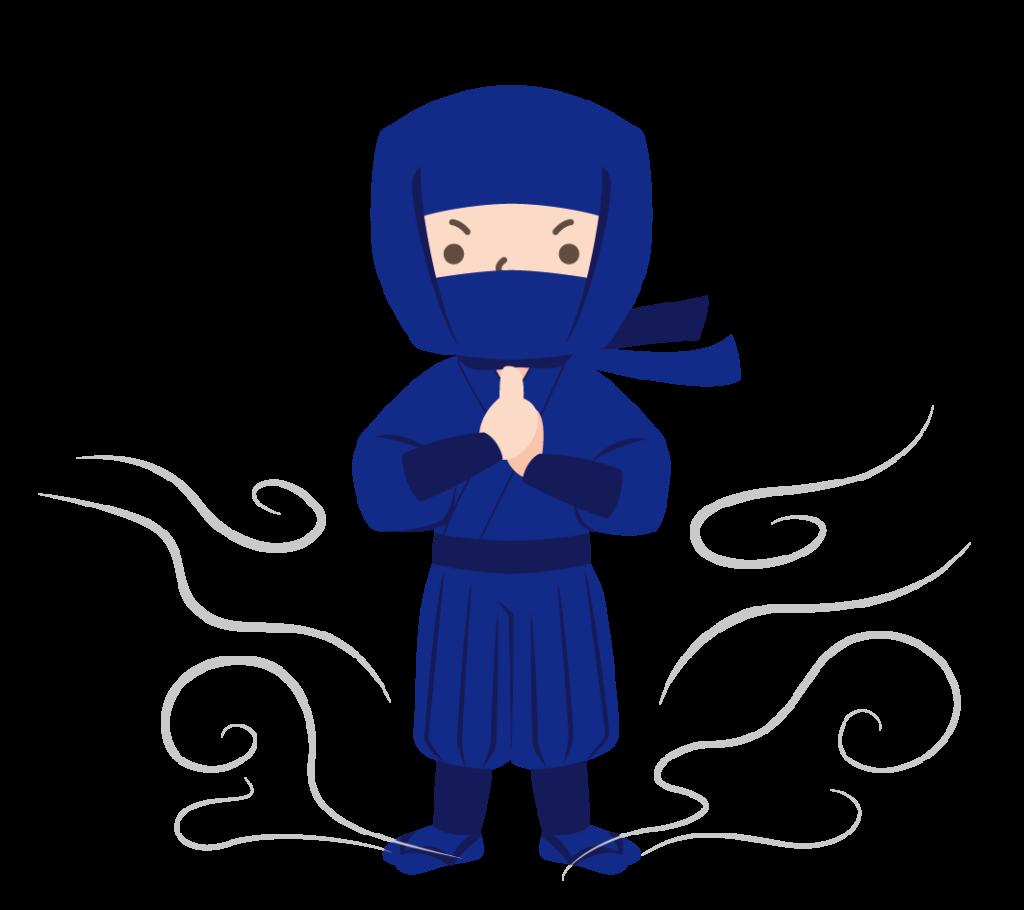 ドロンする忍者のイラスト