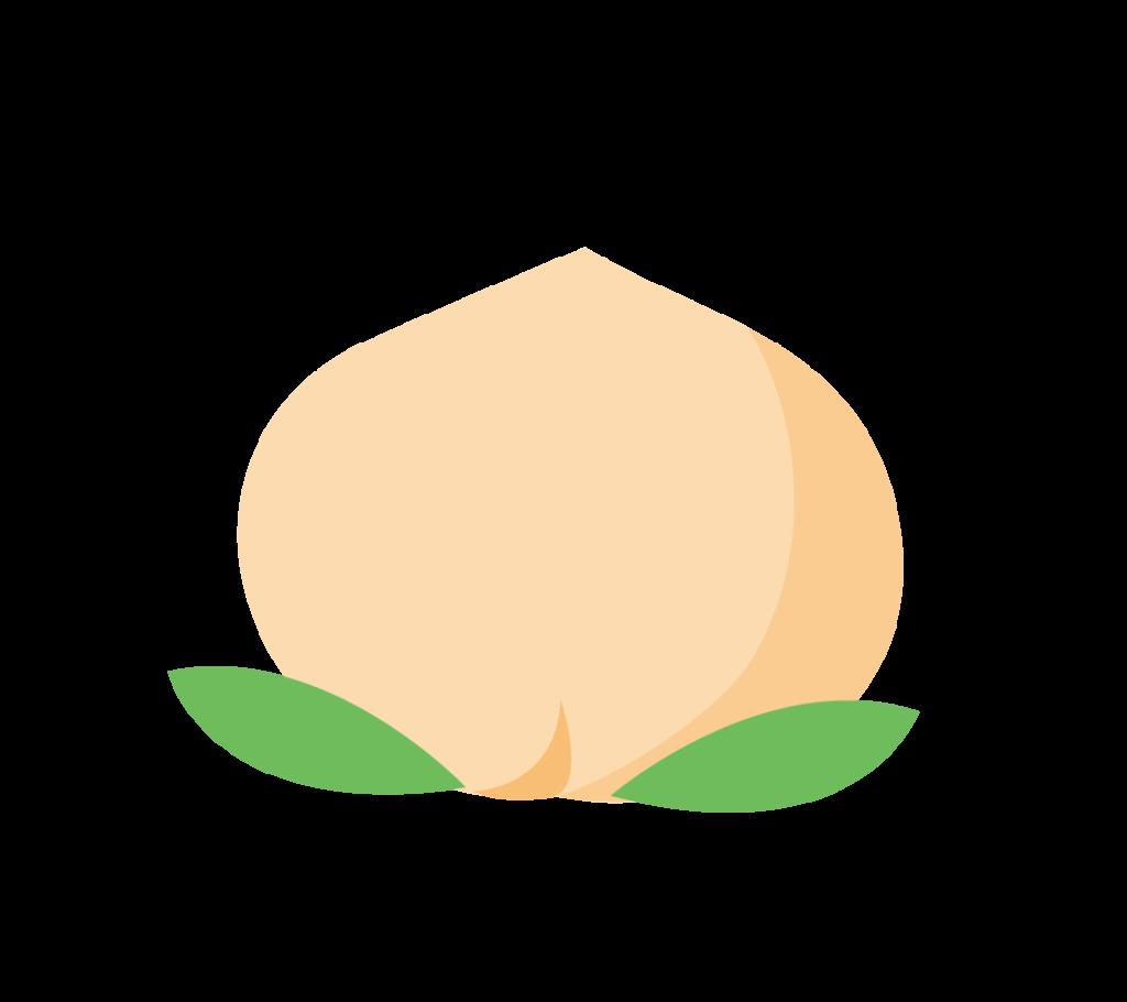 白桃のイラスト