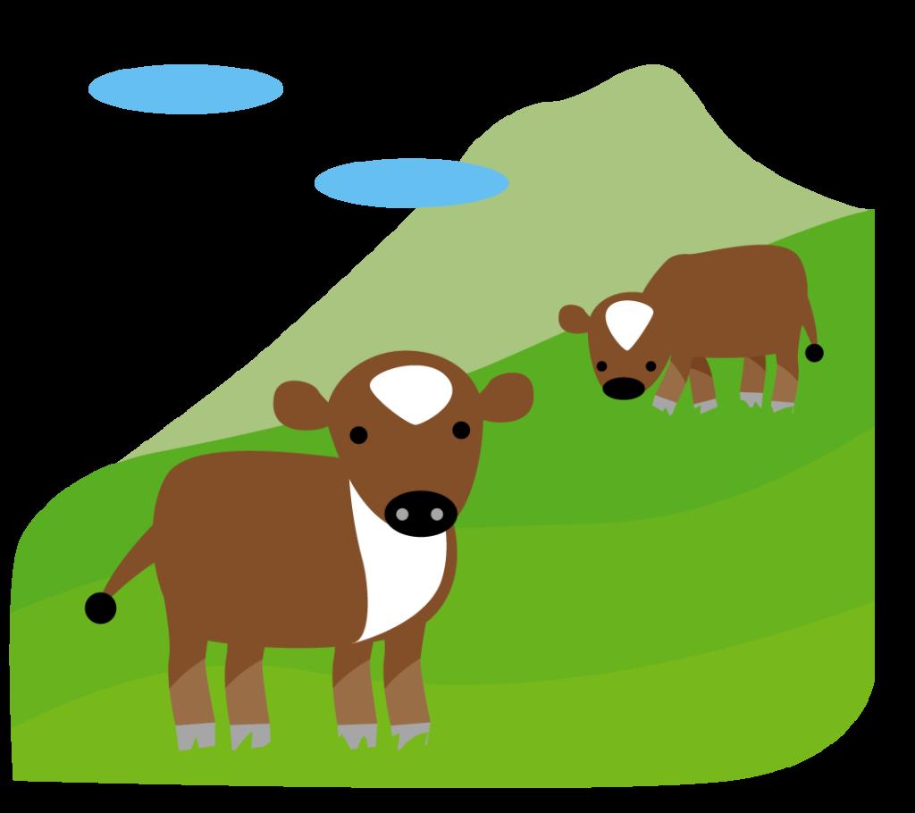 蒜山高原のイラスト