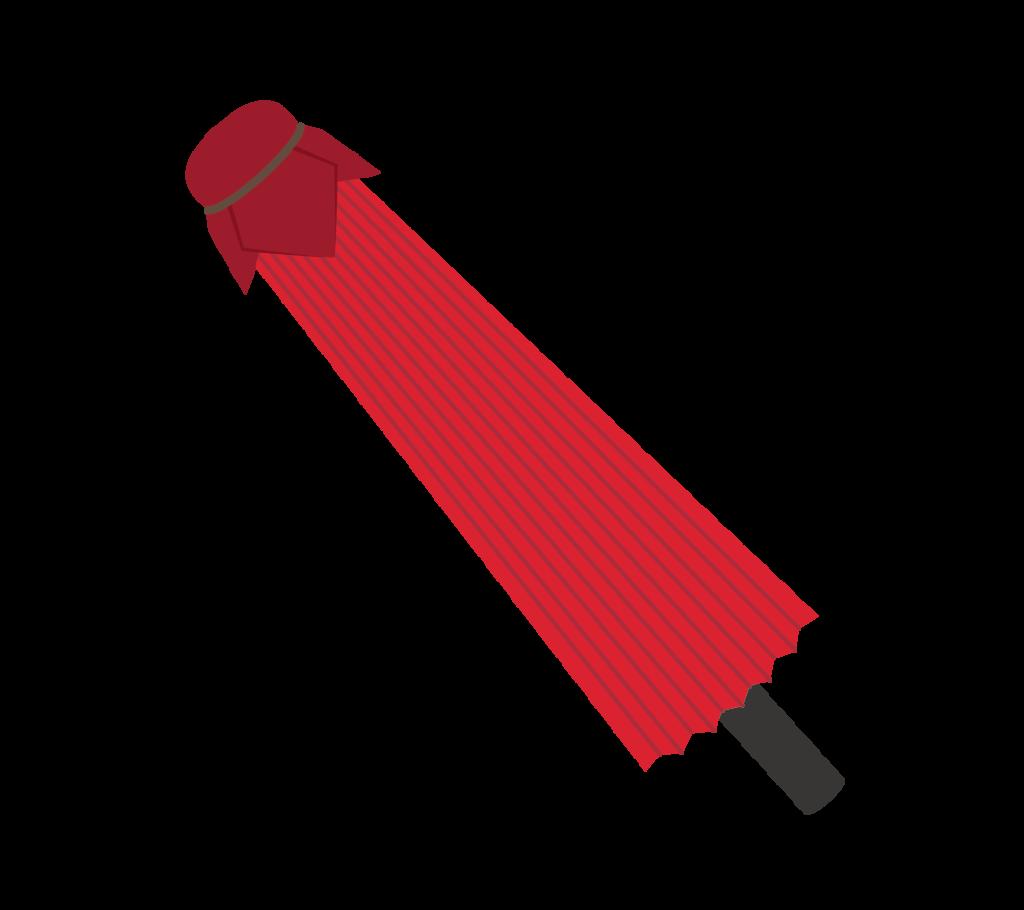 閉じた番傘のイラスト