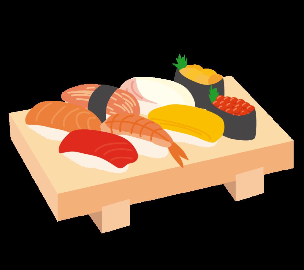 にぎり寿司のイラスト