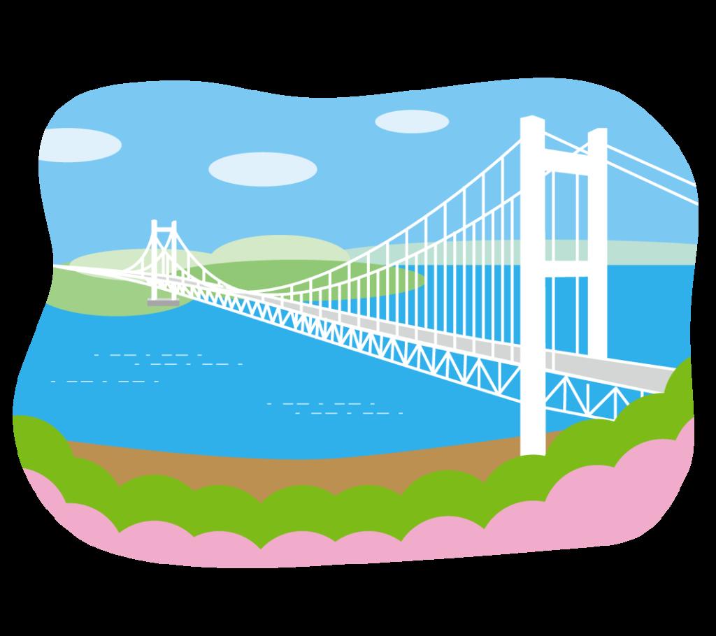 瀬戸大橋のイラスト