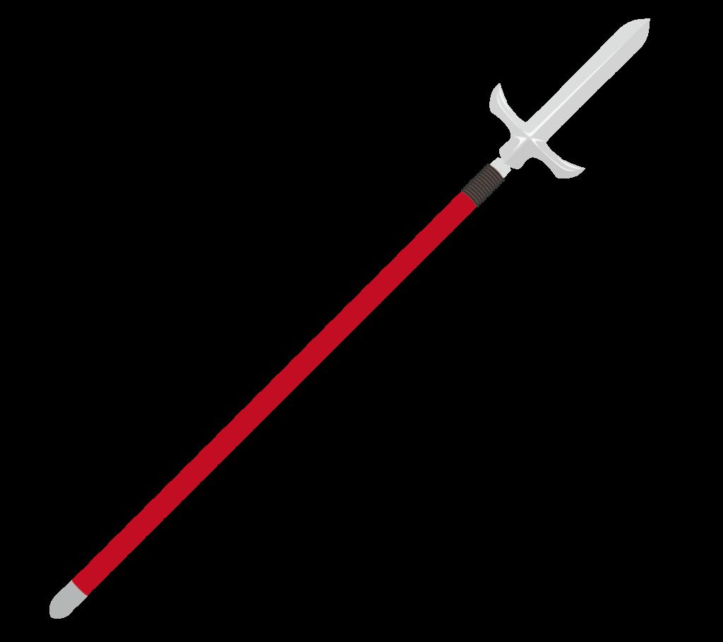十文字槍のイラスト