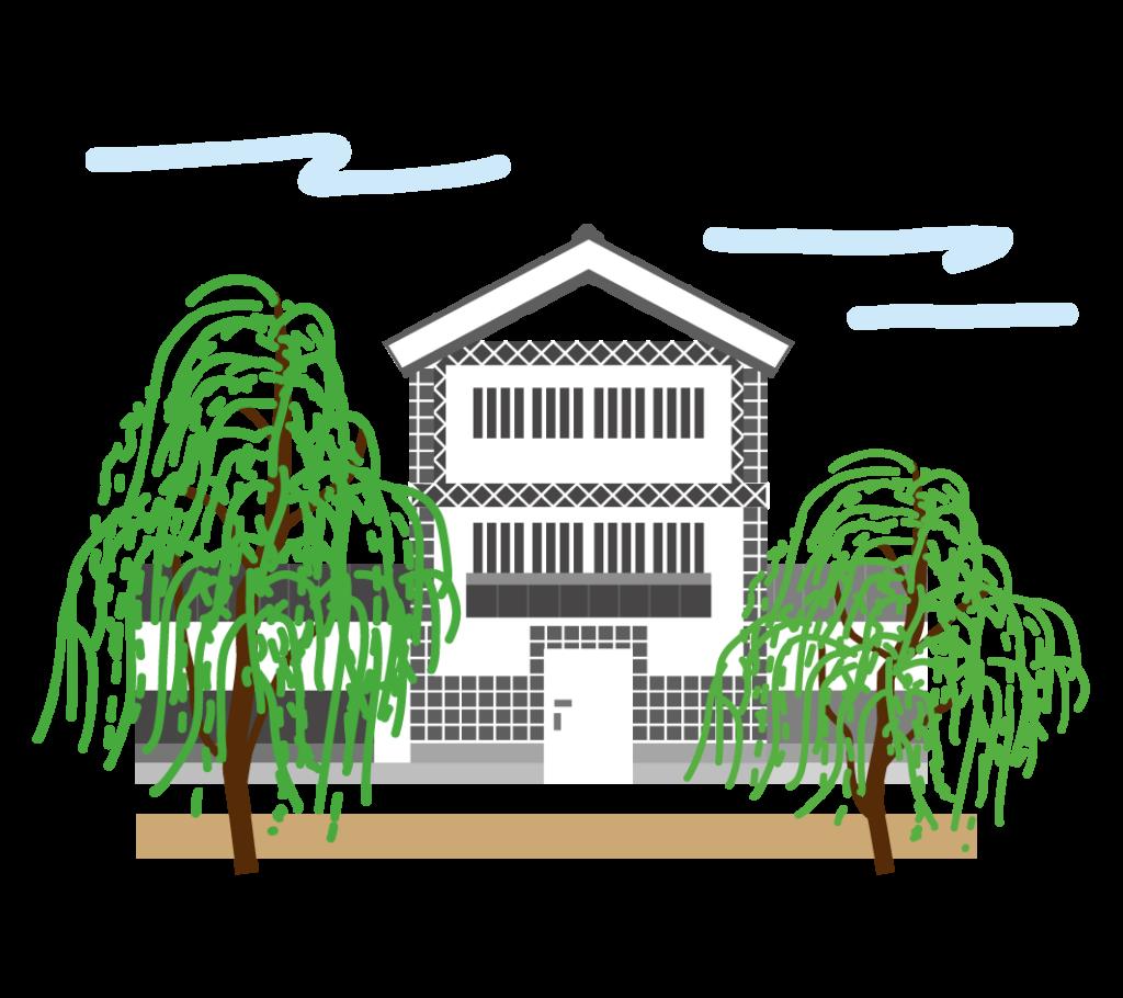 倉敷美観地区のイラスト