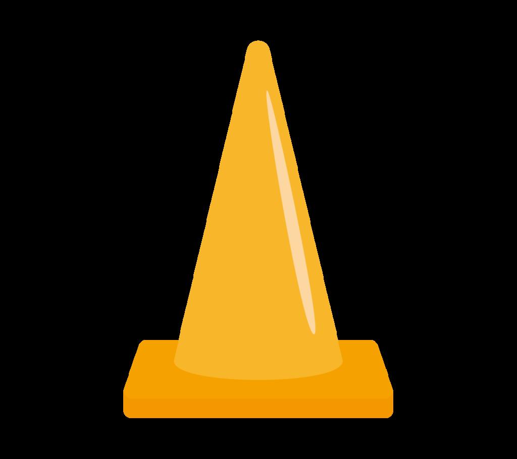 パイロン(オレンジ)のイラスト