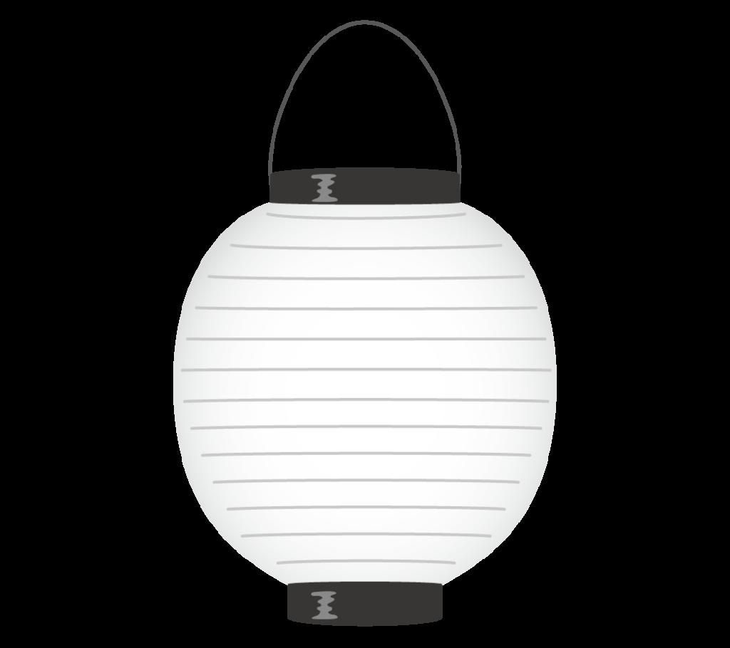 白色の提灯のイラスト