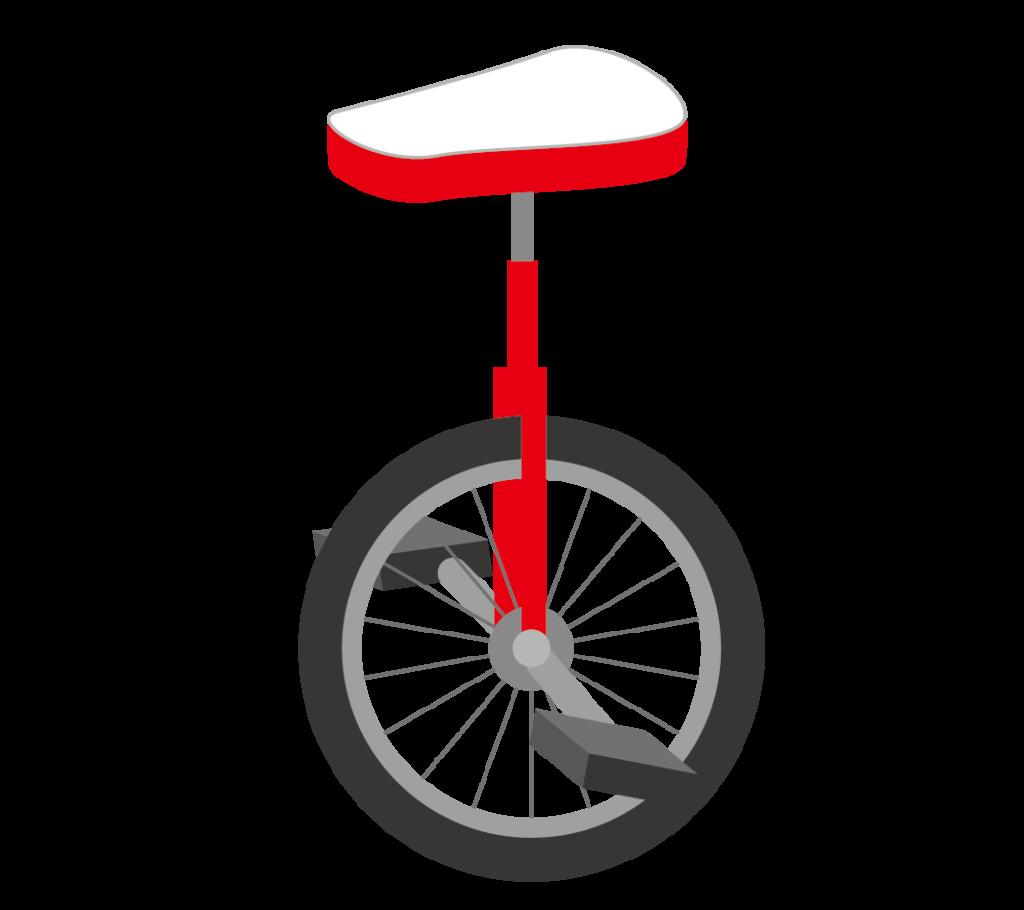 一輪車のイラスト