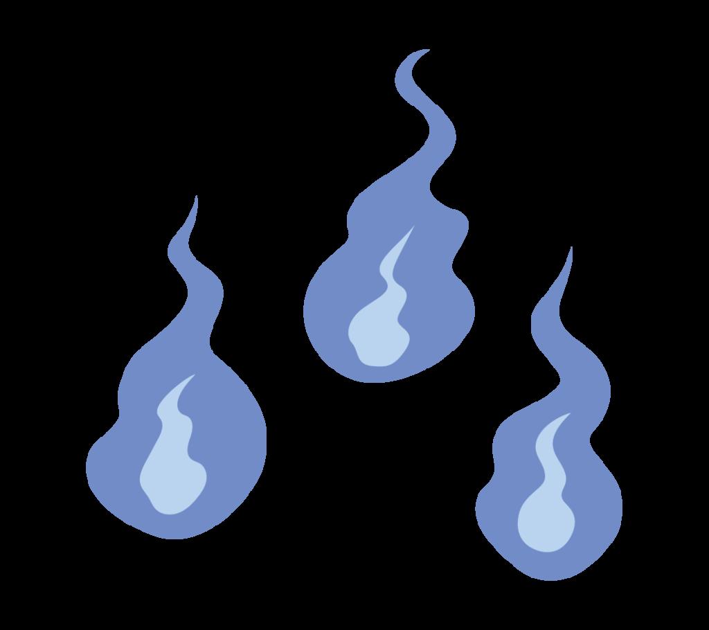 火の玉のイラスト