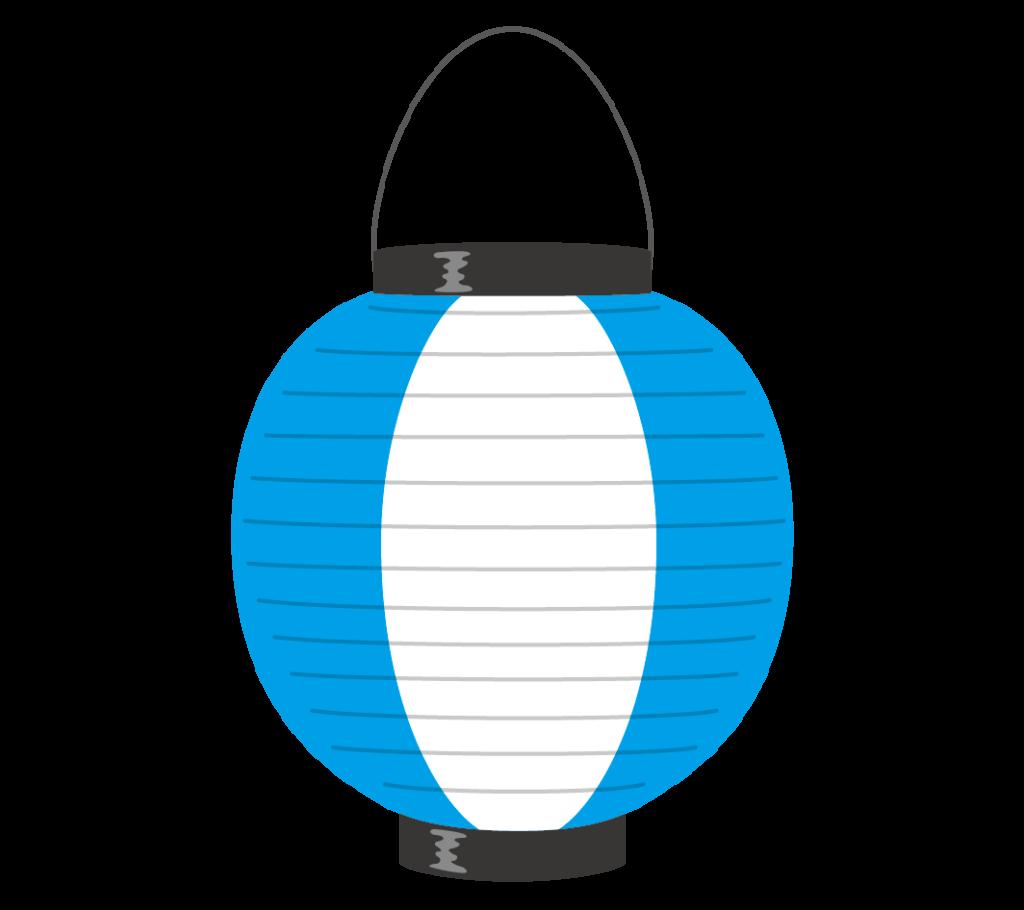 青と白の提灯のイラスト