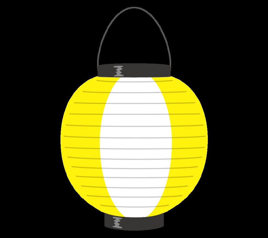 黄と白の提灯のイラスト