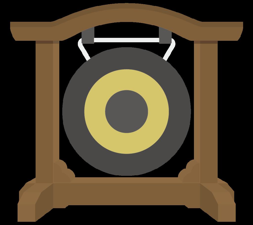 ドラ(銅鑼)のイラスト