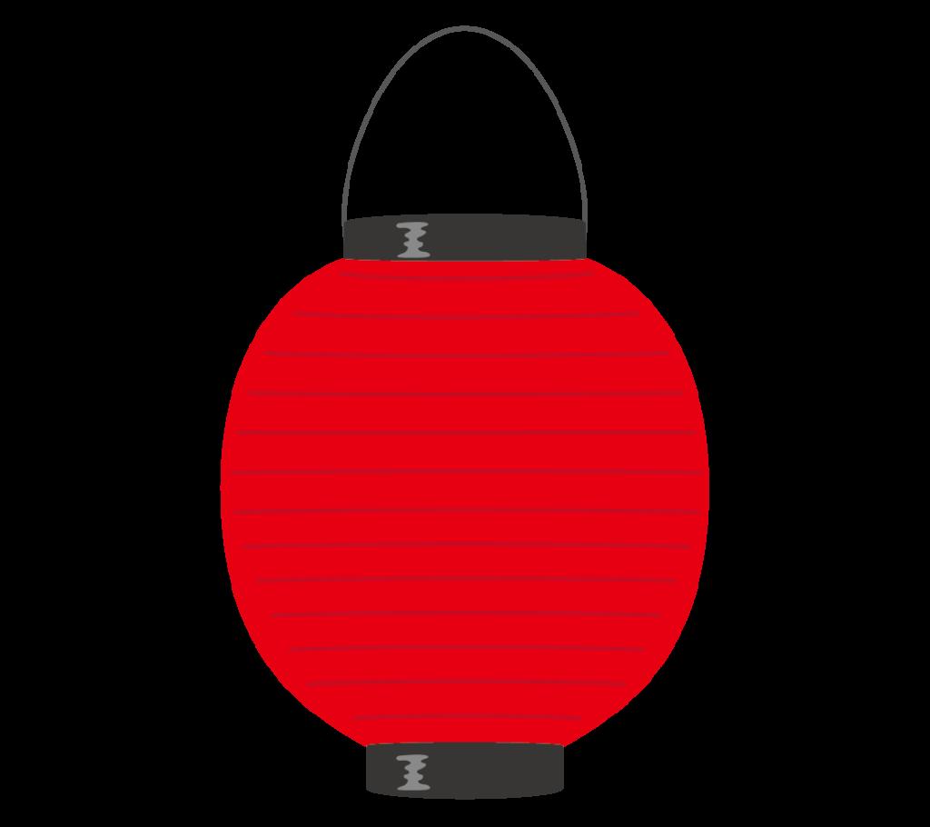 赤色の提灯のイラスト