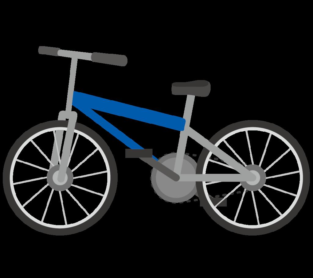 自転車(青色)のイラスト