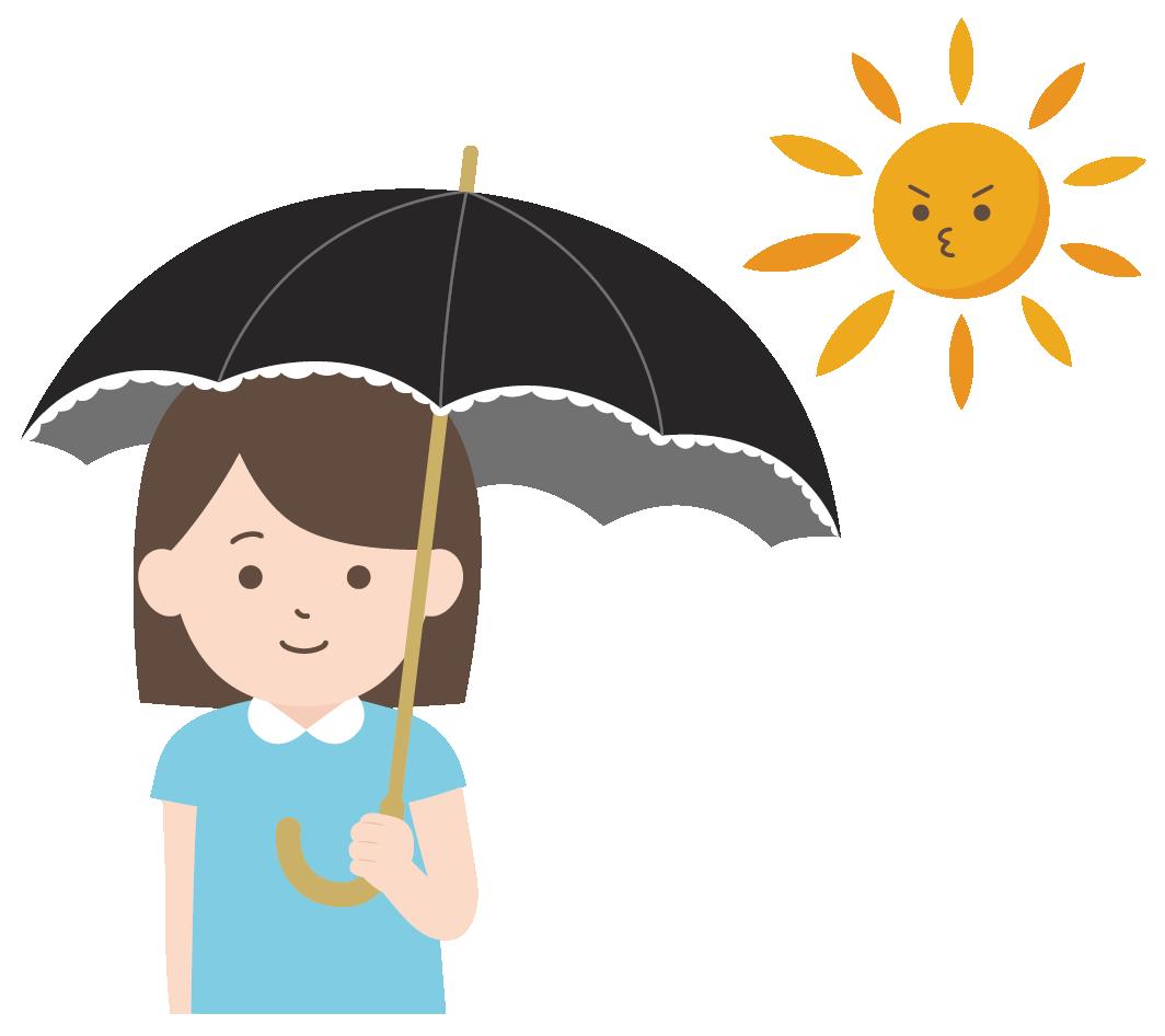 日傘をさす女性のイラスト | 高品質の無料イラスト素材集のイラサポフリー