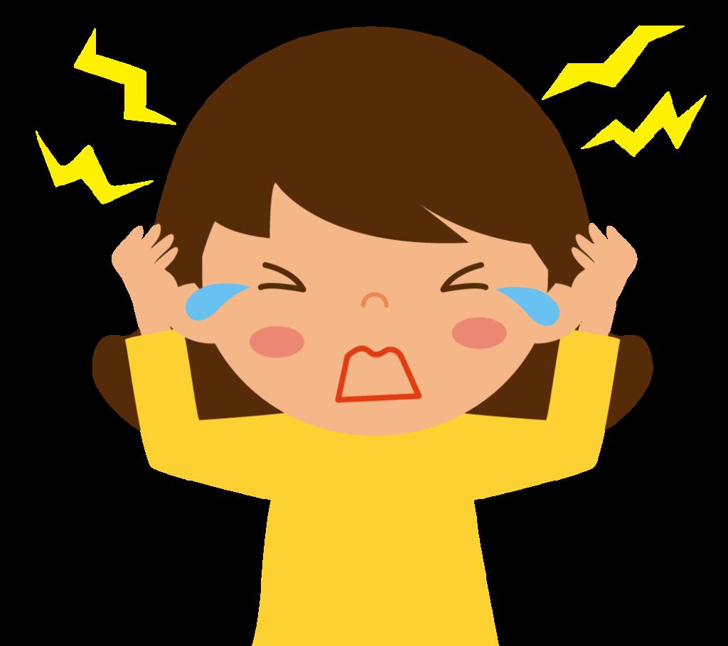 初期症状:頭痛のイラスト