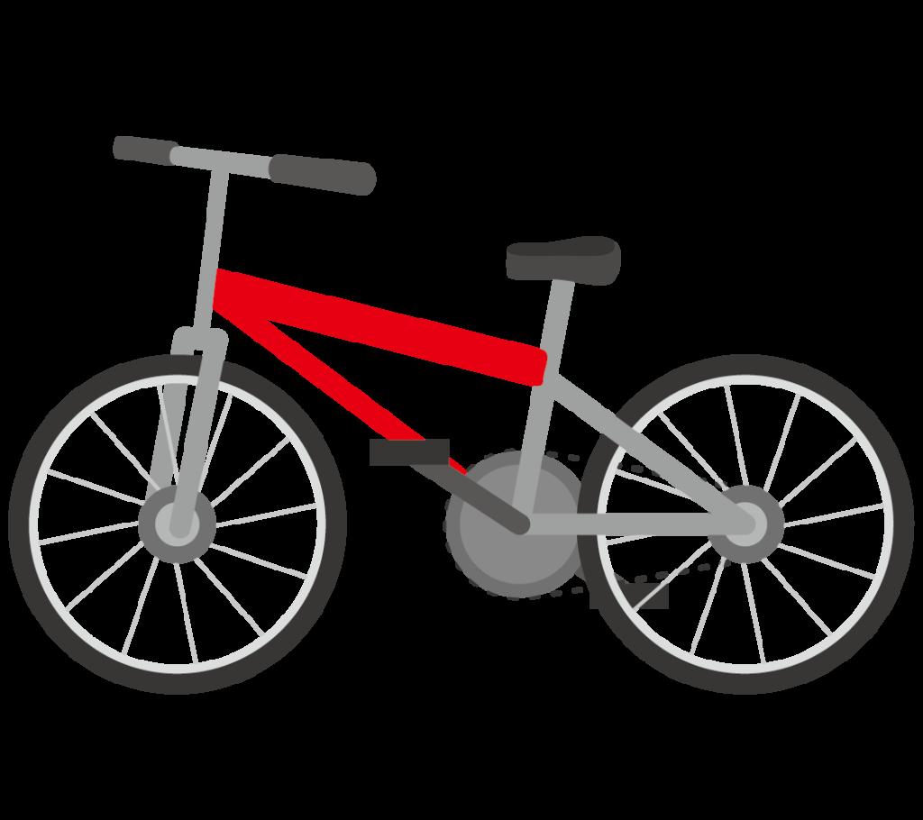 自転車(赤色)のイラスト