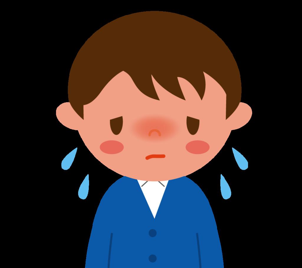 初期症状:発熱のイラスト