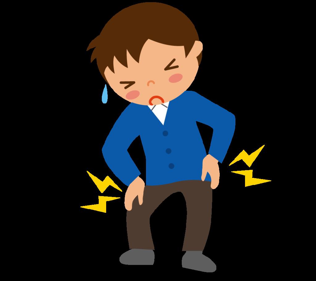 初期症状:筋肉痛のイラスト